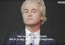 Geert Wilders in de documentaire van VICELAND.