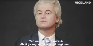 Geert Wilders in de documentaire van VICELAND.