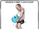 """De cartoon die Erdogan van Twitter wil laten verdwijnen: """"Erdogan is not a goatfucker"""". (Bron foto: screenshot Twitter)"""